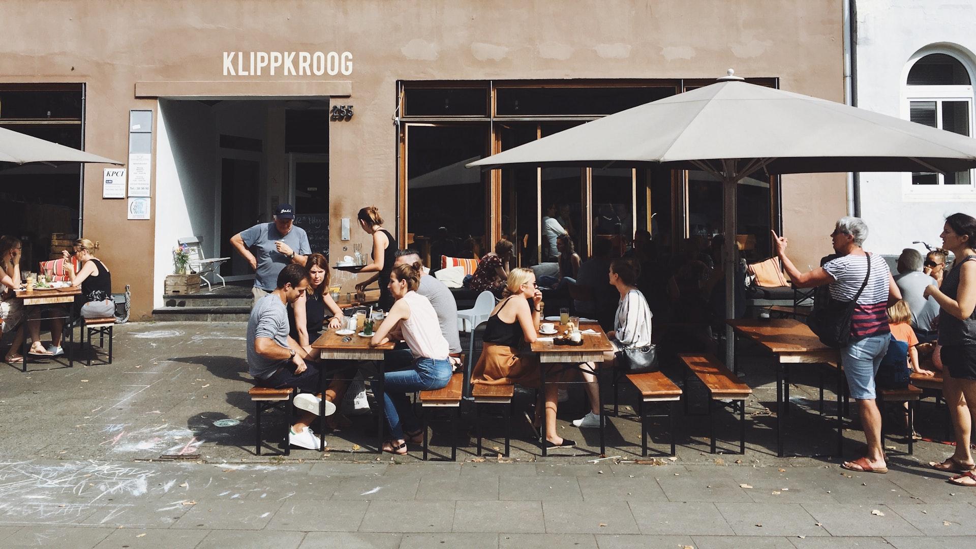 Een terras van een café