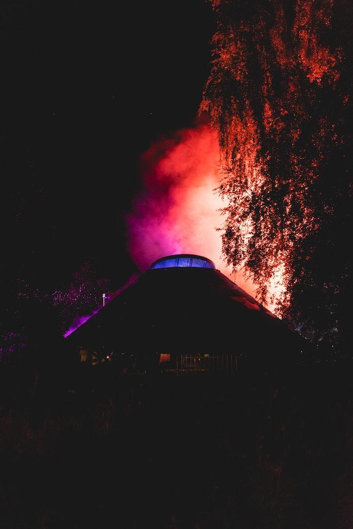 Foto van de Moon Ra stage op de tweede dag van Horst Festival 2021
