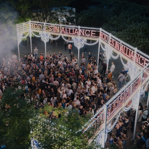 Foto van de Bodies In Alliance-stage op Horst Festival 2021